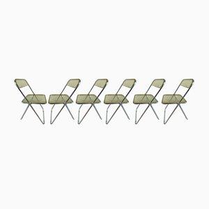 Chaises de Salon Plia par Giancarlo Piretti pour Castelli / Anonima Castelli, années 70, Set de 6