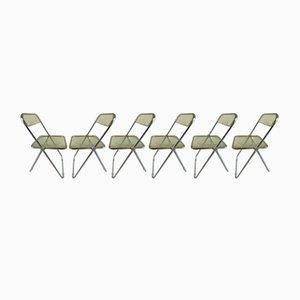 Plia Dining Chairs by Giancarlo Piretti for Castelli / Anonima Castelli, 1970s, Set of 6