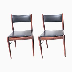 Black Rosewood Dining Chairs from Gessef, 1960s, Set of 2
