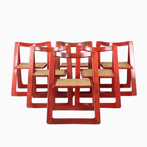 Trieste Dining Chairs by D'Aniello Jacober for Bazzani, 1960s, Set of 6