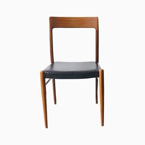 Black Teak Dining Chair from Lübke, 1960s
