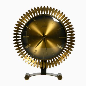 Brass Sunburst Clock from Atlanta, 1960s