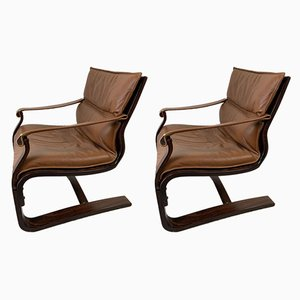 Nelo Lounge Chairs from Nelo Möbel, 1970s, Set of 2