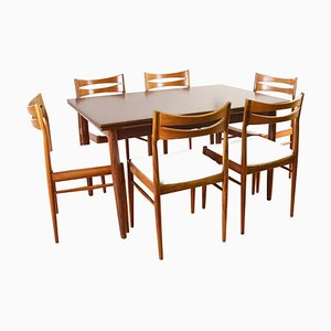 Mid-Century Rosewood Extendable Dining Table, 1960s