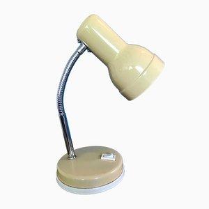 Lampada da scrivania vintage color senape in metallo cromato