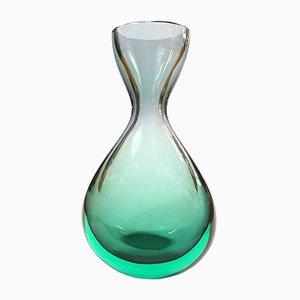 Jarrón de cristal de Murano de Flavio Poli para Seguso Vetri d'Arte, años 60
