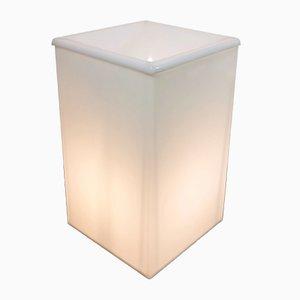 Lámpara de pie cubista de plexiglás, años 80