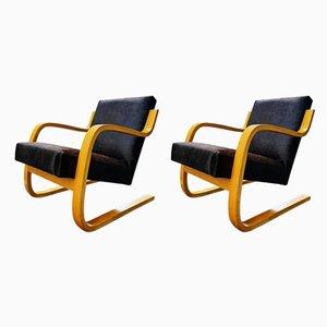 Butacas de Alvar Aalto para Artek, años 60. Juego de 2