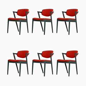 Dining Chairs by Kai Kristiansen for SVA Møbler, 1960s, Set of 6