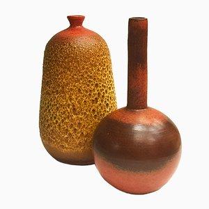 Handgefertigte Vasen von José Arellano Castelló für Arellano, 1970er, 2er Set