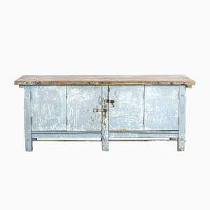 Antique Blue Worktable