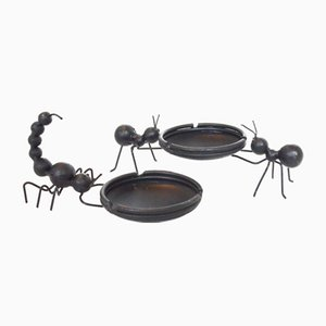 Mid-Century Black Metal Ashtray from Bror Bonfils, Set of 2