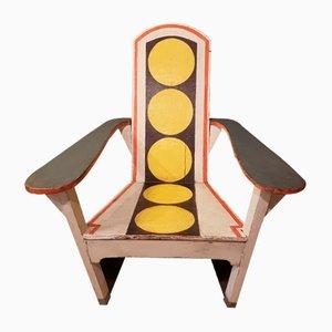 Spanischer Vintage Armlehnstuhl aus Holz