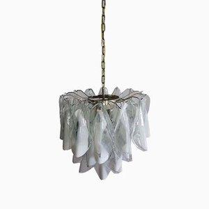 Lámpara de araña italiana vintage de cristal de Murano, 1972