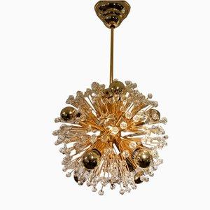 Lámpara de araña Snowball austriaca Mid-Century de Emil Stejnar para Rupert Nikoll