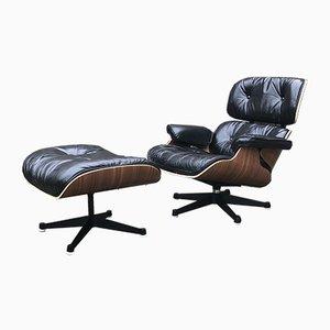 670 Sessel mit 671 Fußhocker von Charles & Ray Eames für Vitra, 2000er