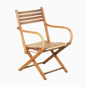 German Beech Folding Chair from Naether, 1930s