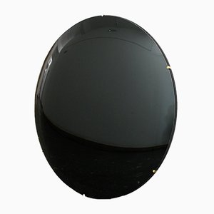 Black Orbis Convex Frameless Mirror by Alguacil & Perkoff Ltd