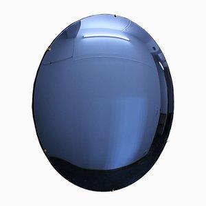 Blue Orbis Convex Frameless Mirror by Alguacil & Perkoff Ltd