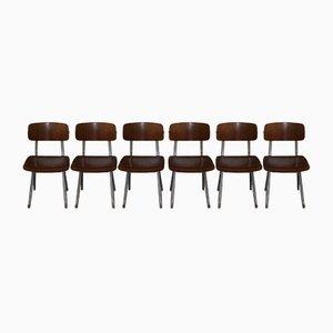 Chaises de Salle à Manger Mid-Century par Friso Kramer pour Ahrend De Cirkel, Set de 6