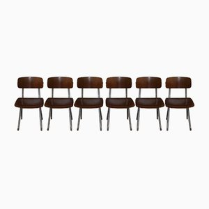Mid-Century Dining Chairs by Friso Kramer for Ahrend De Cirkel, Set of 6
