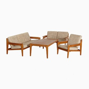 Mid-Century Danish Living Room Set by Arne Wahl Iversen for Komfort, 1960s, Set of 4