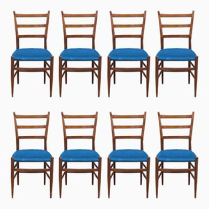 Italian Dining Chairs, 1960s, Set of 8