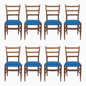 Italienische Esszimmerstühle, 1960er, 8er Set