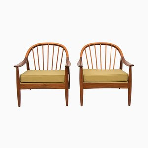 Teak Bentwood Armchairs from Greaves & Thomas, 1960s, Set of 2