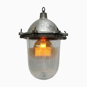 Lámpara de techo industrial vintage de aluminio fundido, años 50
