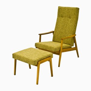 Armchair and Footstool from TON, 1960s