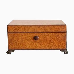 Englische Vintage Zigarrenbox aus Wurzelholz von Dunhill