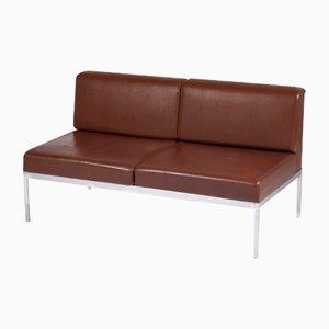 Sofá de metal cromado y cuero sintético de Kho Liang Ie para Artifort, años 50