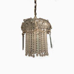 Lámpara de techo de cristal de Murano, años 40