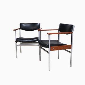 Belgische Schreibtischstühle, 1960er, 2er Set