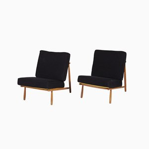 Low Lounge Chairs by Alf Svensson for Dux, 1952, Set of 2