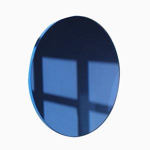 Specchio grande rotondo Orbis blu con cornice blu di Alguacil & Perkoff Ltd