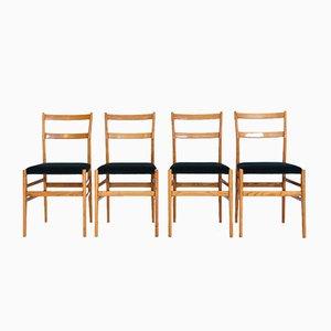 Chaises de Salle à Manger Leggera par Gio Ponti pour Cassina, 1950s, Set de 4