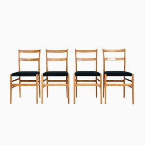 Leggera Dining Chairs by Gio Ponti for Cassina, 1950s, Set of 4