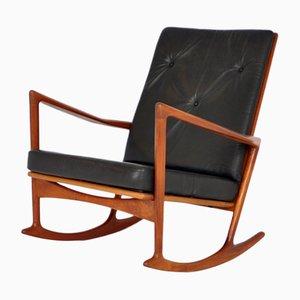 Sedia a dondolo nr. 650-15 di Ib Kofoed Larsen per Christian Linnebergs, 1962
