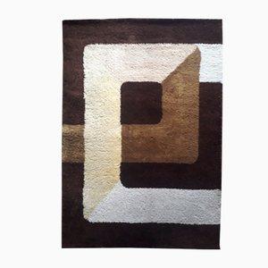 Alfombra Mid-Century geométrica de lana, años 70