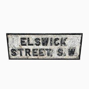 Cartello stradale antico di Londra