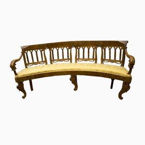 Antique Spanish Walnut Bench