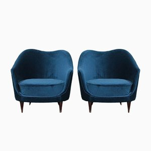Lounge Chairs by Federico Munari for Federico Munari, 1950s, Set of 2