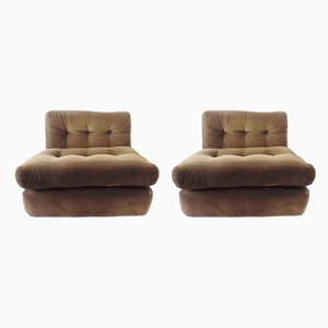 Amanta Club Chairs by Mario Bellini for C&B Italia, 1970s, Set of 2