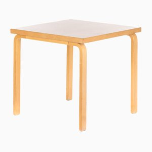 Vintage Light Grey Linoleum Dining Table by Alvar Aalto for Artek, 1970s