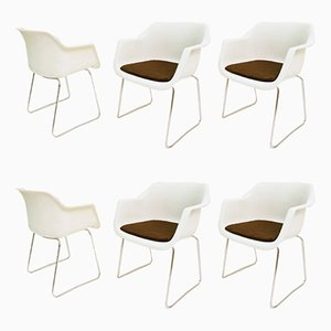 Vintage Grosfillex Armchairs by Albert Jacobs, Set of 6