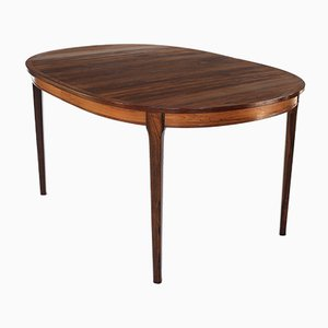 Rosewood Elliptical Dining Table by Torbjörn Afdal for Bruksbo, 1960s