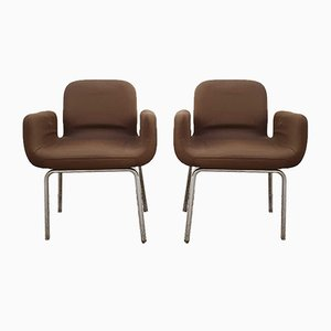 Italian Model Swan Lounge Chairs, 1960s, Set of 2