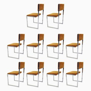 Vintage Italian Club Chairs by Willy Rizzo, Set of 10